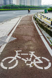 On bicycle lane Stock Images