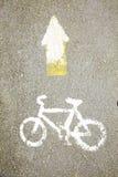 Bicycle lane symbol Stock Photography