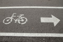 Bicycle lane and walkway Royalty Free Stock Photo