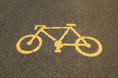 Bicycle lane and walkway Royalty Free Stock Images