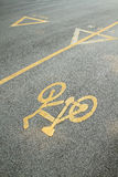 Bicycle lane and walkway Royalty Free Stock Image