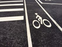 Bicycle lane for you Royalty Free Stock Images