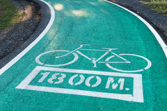 Bicycle lanes Stock Photography