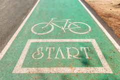 Bicycle lanes. Designed to make cycling safe royalty free stock images