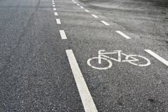 Bicycle Lanes. Bicycle Lanes In the park royalty free stock photo