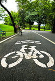 Bicycle Lanes in Park Royalty Free Stock Image