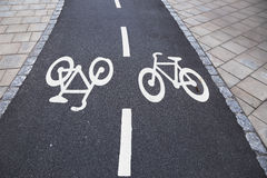 Bicycle lanes, Sweden Royalty Free Stock Images