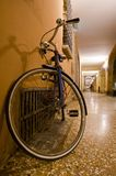 Bicycle leaning against the wall Royalty Free Stock Photo