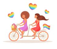 Bicycle LGBTQ Vector. Stock Photos