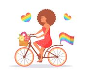 Bicycle LGBTQ Vector. Stock Image