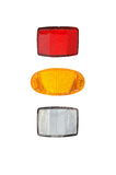 Bicycle light reflectors Royalty Free Stock Image