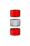 Bicycle light reflectors Royalty Free Stock Images