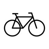 Bicycle line icon. Navigation and transport sign. Vector graphic. Bicycle line icon. Navigation and transport sign in outline style. Vector graphic Stock Photo