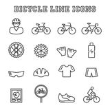 Bicycle line icons Royalty Free Stock Photos