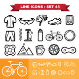Bicycle Line icons set 45 Stock Photo