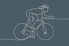 Bicycle. Linear line graphic. Royalty Free Stock Photo