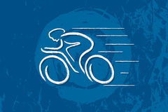 Bicycle. Linear line graphic. Stock Image