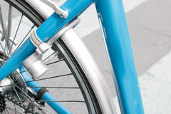 Bicycle lock. A closeup of a bicycle lock royalty free stock photo
