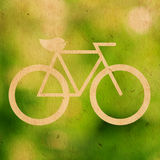Bicycle logo. Ecological on paper texture Stock Photos