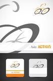 Bicycle logo design. Modern road cyclist Icon, template design for business cards, Vector EPS10 Stock Image