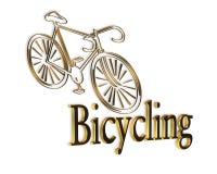Bicycle Logo Gold Black royalty free stock images