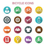 Bicycle long shadow icons Royalty Free Stock Images