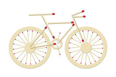 Bicycle made of matches Stock Image