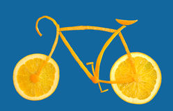 Bicycle made from orange slices Royalty Free Stock Photos