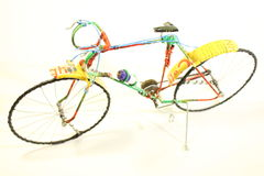 Bicycle made of recycled materials Stock Photos