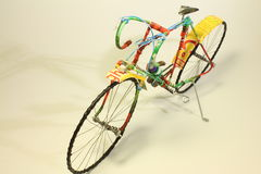 Bicycle made of recycled materials Stock Photo