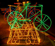 Bicycle Made up of LED (light emitting diode) Royalty Free Stock Photo
