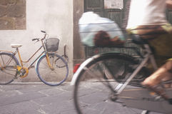 Bicycle in Madrid. Vintage bicycle in Tuscany, Italy Stock Image