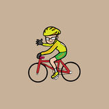 Bicycle man Royalty Free Stock Images