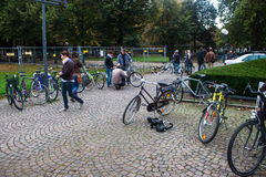 Bicycle market Royalty Free Stock Photography