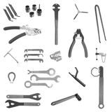 Bicycle mechanic repair tools Royalty Free Stock Photos