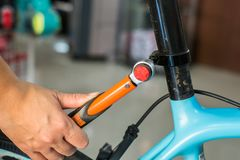 Bicycle mechanic stock images