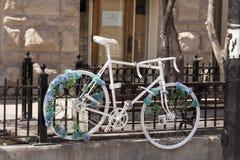 A bicycle memorial Royalty Free Stock Photos