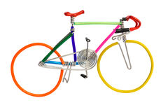 Bicycle model toy wire isolated on white background Royalty Free Stock Photography