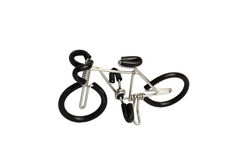Bicycle model toy wire isolated on white background Royalty Free Stock Photo