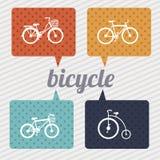 Bicycle models. Over grunge background vector illustration royalty free illustration
