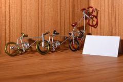 Bicycle models and text areas. For wed and textures Stock Photos