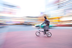 Bicycle in motion Royalty Free Stock Photo