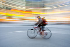 Bicycle in motion blur royalty free stock photo