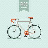 Bicycle. Motivational poster with bicycle in vector Stock Photo