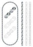 Bicycle/motorcycle metal chain vector Stock Photo