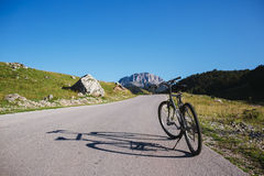 Bicycle On Mountain Stock Photography