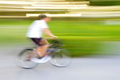 Bicycle movement. Action movement of bicycle so fast Royalty Free Stock Images