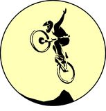 Bicycle mtb trick jump Stock Photography