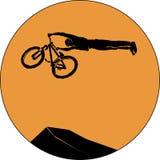 Bicycle mtb trick jump Royalty Free Stock Photo