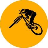 Bicycle mtb trick jump Stock Photo